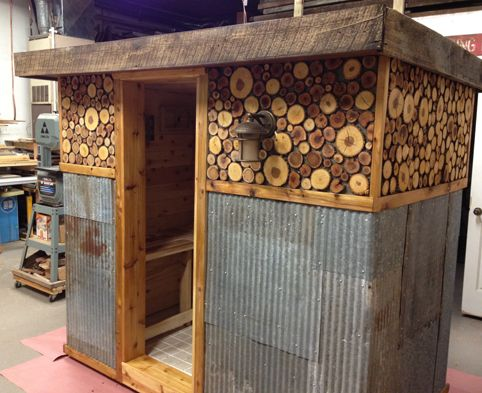 We will get around to making a diy outdoor sauna someday, in the plans, this one is super cool looking!