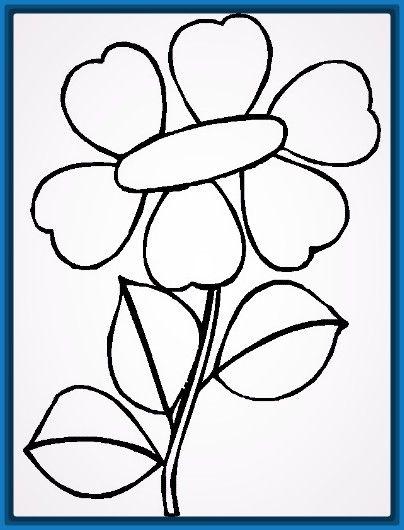 Dibujos Para Colorear Flores Sencillas Objetos En 2019 Pinterest