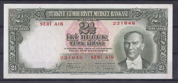2.EMİSYON 1/2 LİRA,SERİ A18 231848,ÇOK ÇOK TEMİZ+ - Gökçe Koleksiyon, Eski Kağıt Para, Eski Para, Osmanlı Paraları, osmanlı kağıt para, darphane hatıra para, madeni para