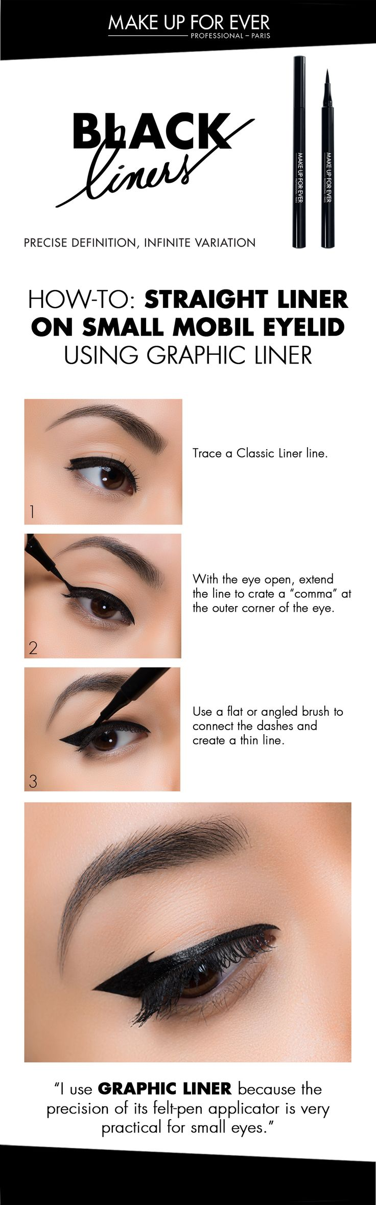 Straight Liner On Small Mobil Eyelid