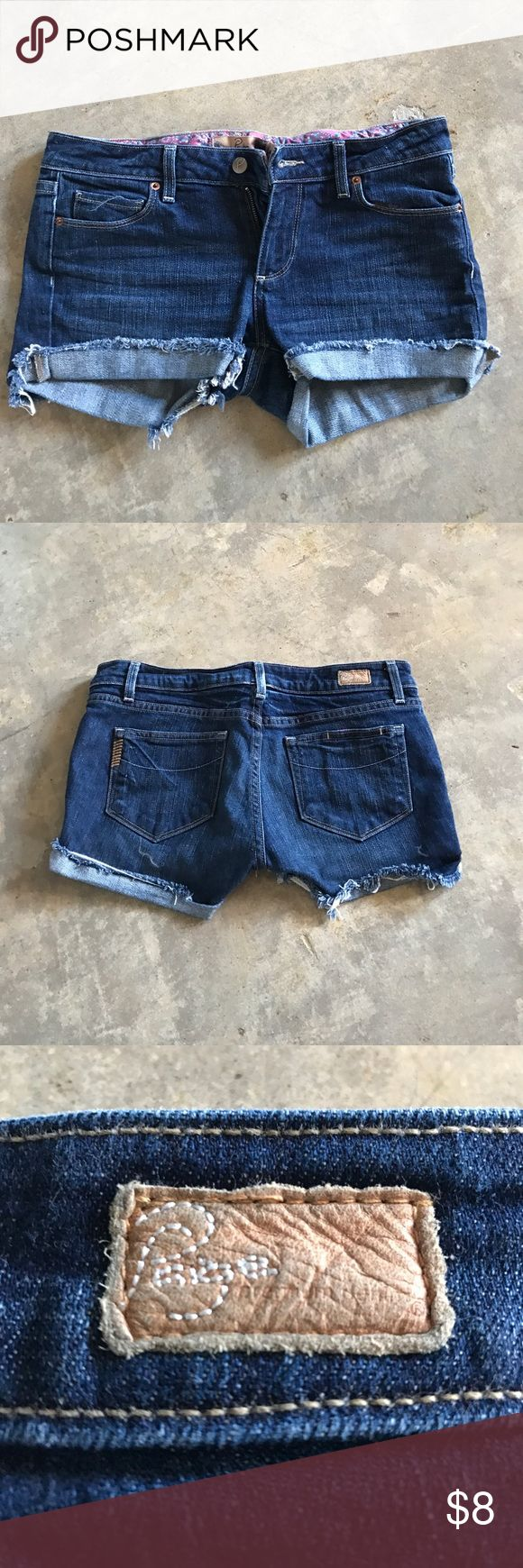 Paige Cutoff Jean Shorts Paige cutoff Jean shorts. Size 28 really soft material Paige Jeans Shorts