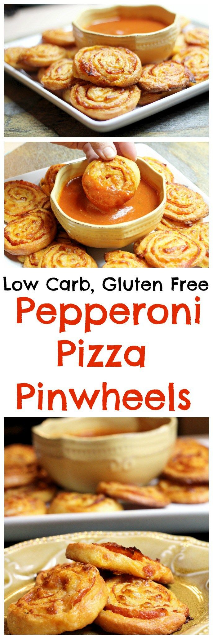 Pepperoni Pizza Pinwheels || Low Carb, Keto, Trim Healthy Mama, Gluten Free Snacks, Appetizers, Pizza