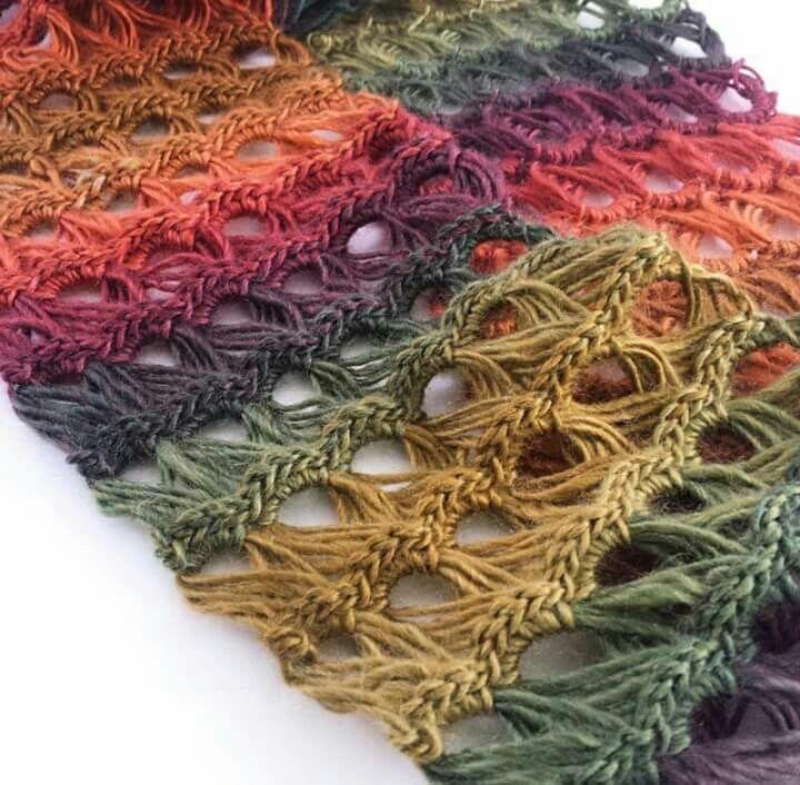 Cachecol em Crochê peruano