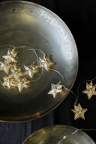 Pretty Silver Star Light Chain - Battery Operated