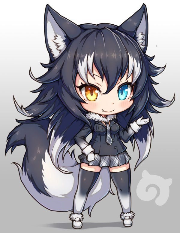 Pin By Blue Nerd O On Deviantart Anime Wolf Girl Anime Chibi Anime Wolf