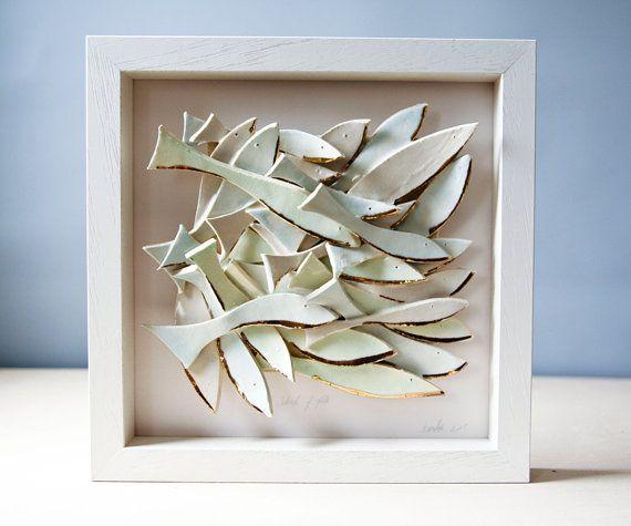 Ceramic Wall Art, Ceramic Fish Art, Sculptural Pottery