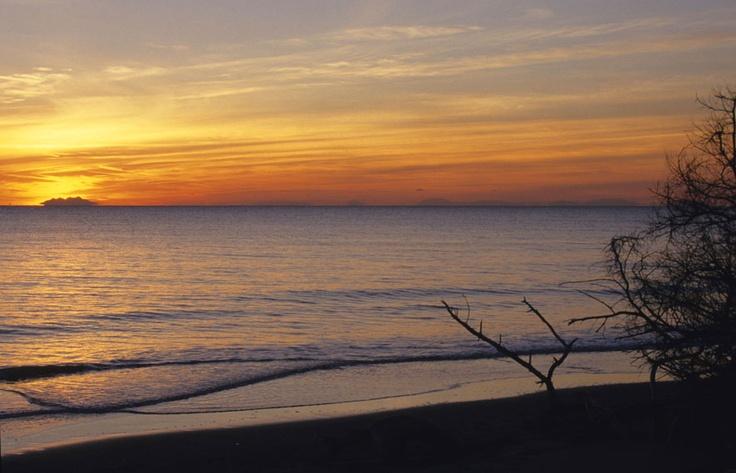 Sunset on the sea of #maremma, #tuscany, #italy