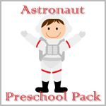 Astronaut preschool pack w/ lesson plans and links for additional songs/games/sensory resources.