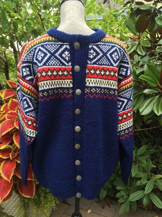 Fair Isle Norwegian wool sweater by WILLIAM SCHMIDT of Oslo-L