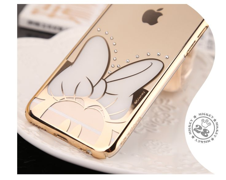 X-Doria Disney Discolor Diamond Bezel Transparent PC Protective Case for Apple iPhone 6S/ iPhone 6S Plus/ iPhone 6/ iPhone 6 Plus