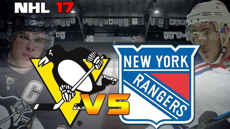 Pittsburgh Penguins vs New York Rangers|NHL Matchday Simulation|NHL 17