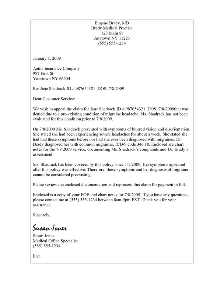 sample insurance appeal letter for authorization best ...