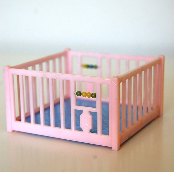 Items Similar To Vintage Renwal Dollhouse Playpen On Etsy
