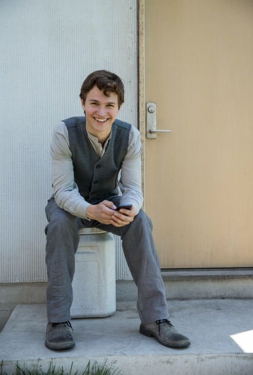Ansel Elgort portraying as Tris's brother, Caleb Prior, in the Divergent film.