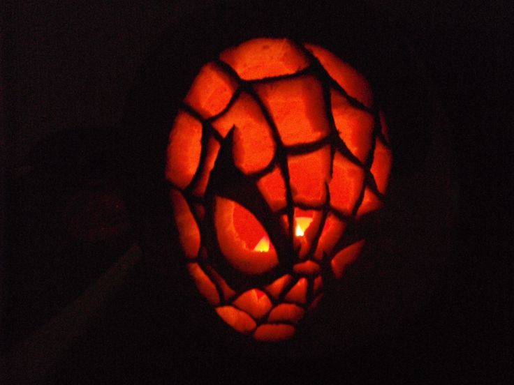 Spiderman Pumpkin Pumpkin Stencils Pumpkin Spiderman