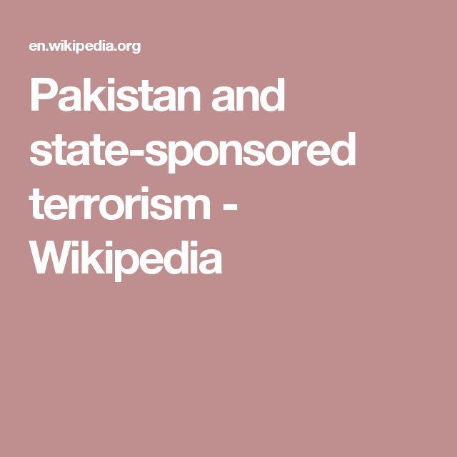 Pakistan and state-sponsored terrorism - Wikipedia