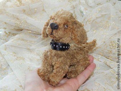 Крошка в ладошку. - бежевый,символокова,тедди,мех,щенок,собачка,подарок