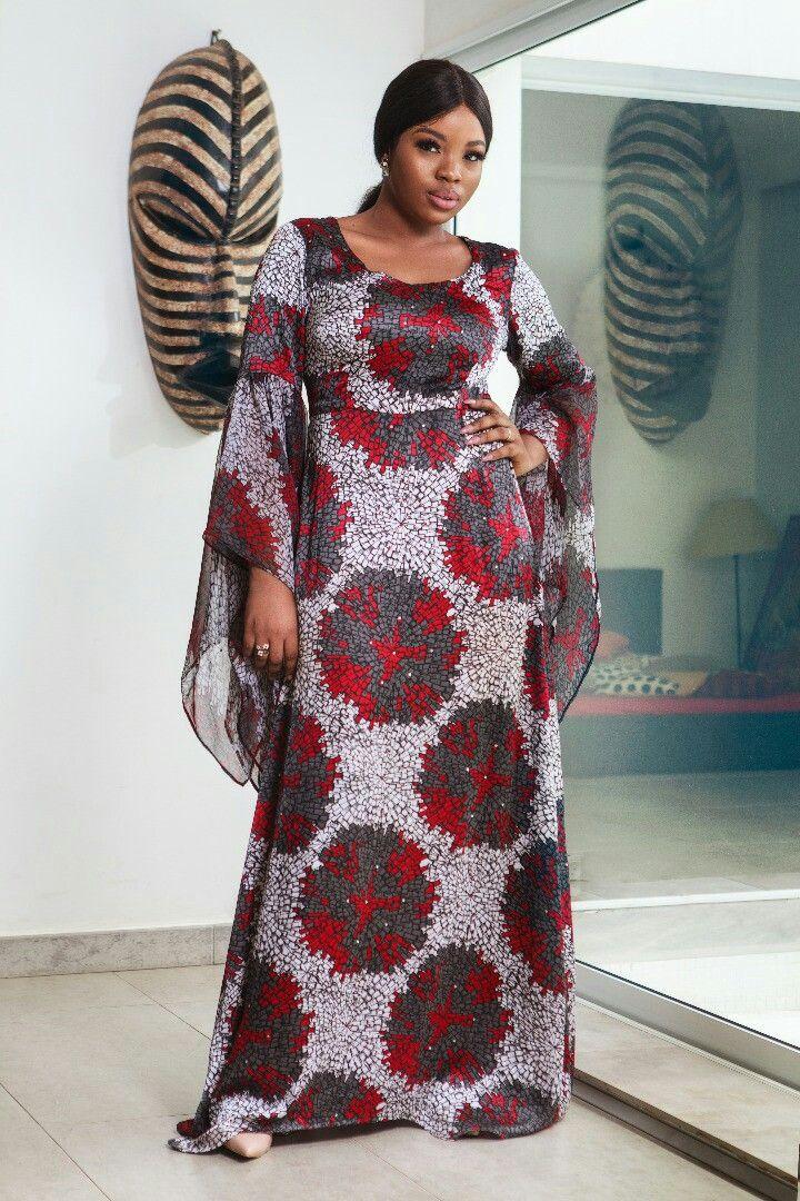 Robe longue africaine fait avec de la soie