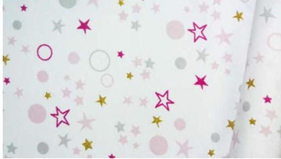 Tissu jersey étoiles et ronds