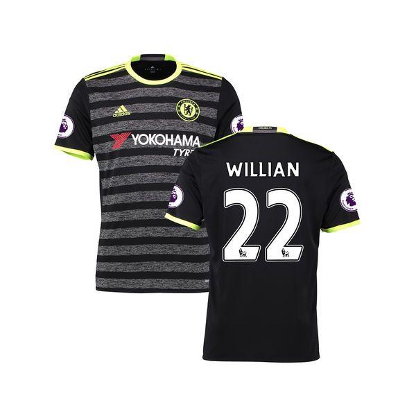 Youth Willian Borges da Silva Black Chelsea 2016/17 Away EPL Badge Replica Jersey - $94.99