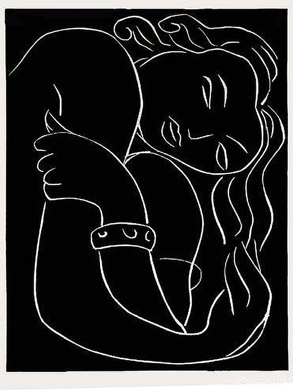 Pasiphae [Plate 2]: Fraiche sur des Lits de Violettes (1944) Henri Matisse