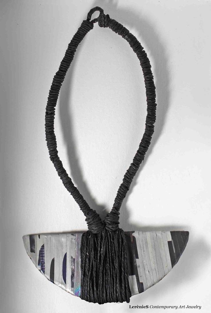 """Maria Francesca Batzella/LERÈNIES - Paper jewelry using recycled materials; """"Paper is a Precious Gift"""""""