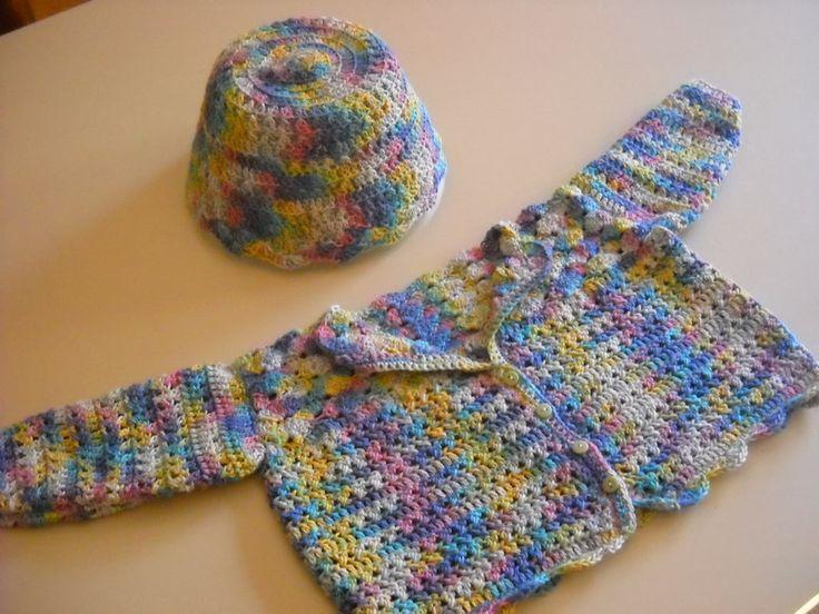 Completino per bebè in cotone multicolore di Le Creazioni di Manola su DaWanda.com