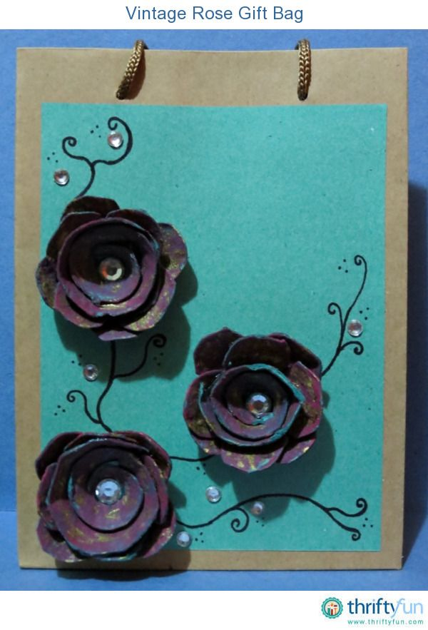 Celebrate the joy of gift giving with this project. Turn an ordinary brown paper bag into an extraordinary gift bag that is sure to make the recipient feel special. The roses are made from an egg carton tray, so this is also a budget-friendly winner!