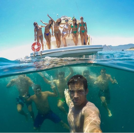 Underwater and Above Water Selfie