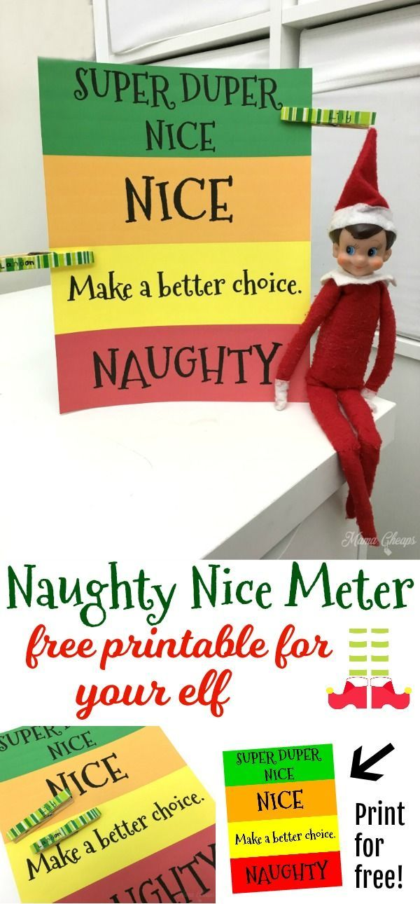 Fun Elf Idea – Naughty and Nice List Free Printable https://www.mamacheaps.com/2017/11/naughty-and-nice-list-free-printable.html