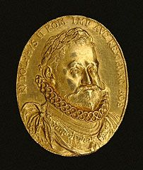 MEDAL. Medal of Emperor Rudolf II, Czech, about 1600. Gift of Cyril Humphris