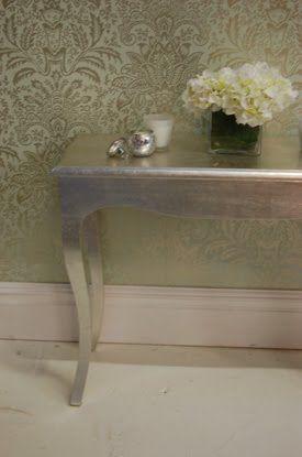 malede møbler, brug slagmetal, sådan bruger du slagmetal