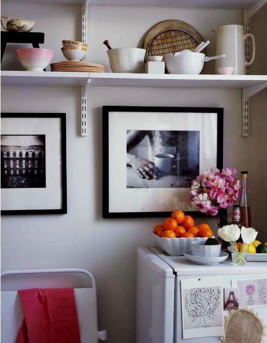 desire to inspire - desiretoinspire.net - AnnaWilliams+1: Kitchens Spaces, Open Shelves, Kitchens Pictures, Kitchens Inspiration, Open Kitchens Shelves, Kitchens Ideas, Pictures Frames, Black White Photos, Frames Art
