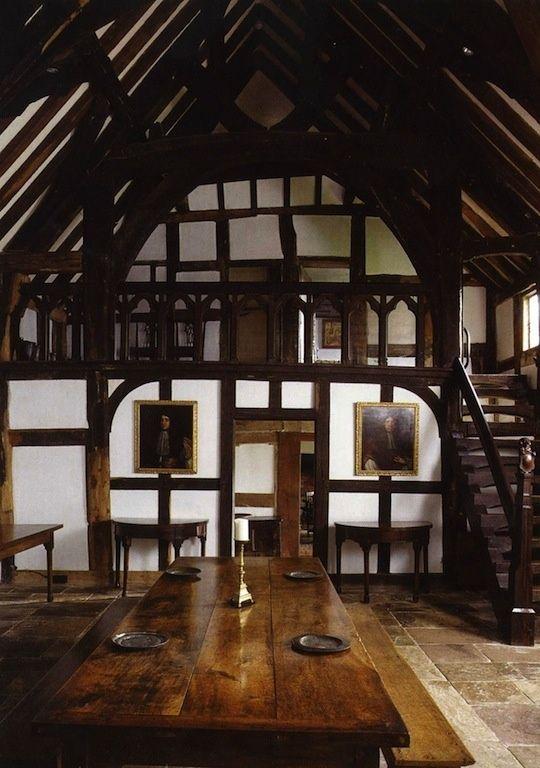 Interior of medieval manor. Or badass barn house!