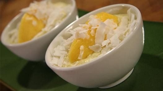 A cooling coconut & mango dessert