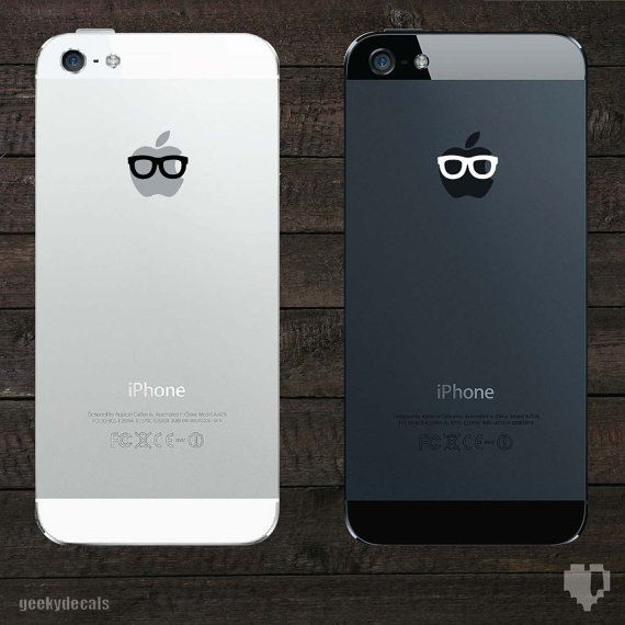Geeky Glasses iPhone Decal / iPhone Sticker by geekydecals on Etsy, $2.00