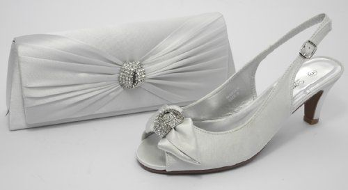 Womens Ladies Wide Fitting Satin Kitten Heel Special ...