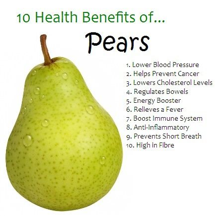 Know the 10 health benefits of pears - the natural way to a healthy body and mind!