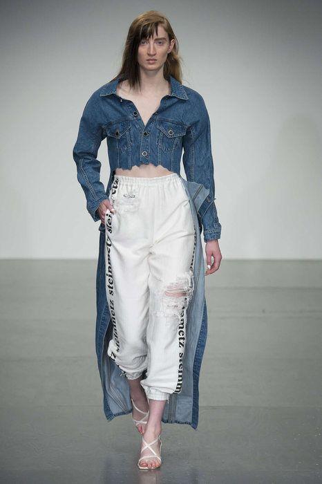 4be920c38f01 Resultado de imagem para spring summer 2019 catwalk remade jeans ...