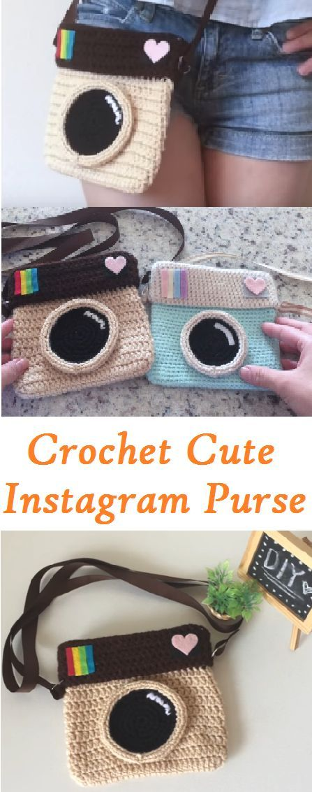 Crochet Cute Instagram Purse