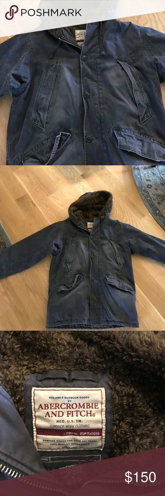 Mens Abercrombie Hooded Winter Coat Like Nee Abercrombie Mens Medium Mens Hooded Coat Abercrombie & Fitch Jackets & Coats Military & Field
