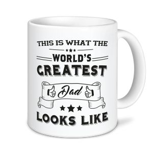 This Is What The World's Greatest Dad Looks Like Funny Mug - Father's Day Mug / Express Mugs - Novelty Printed Mugs