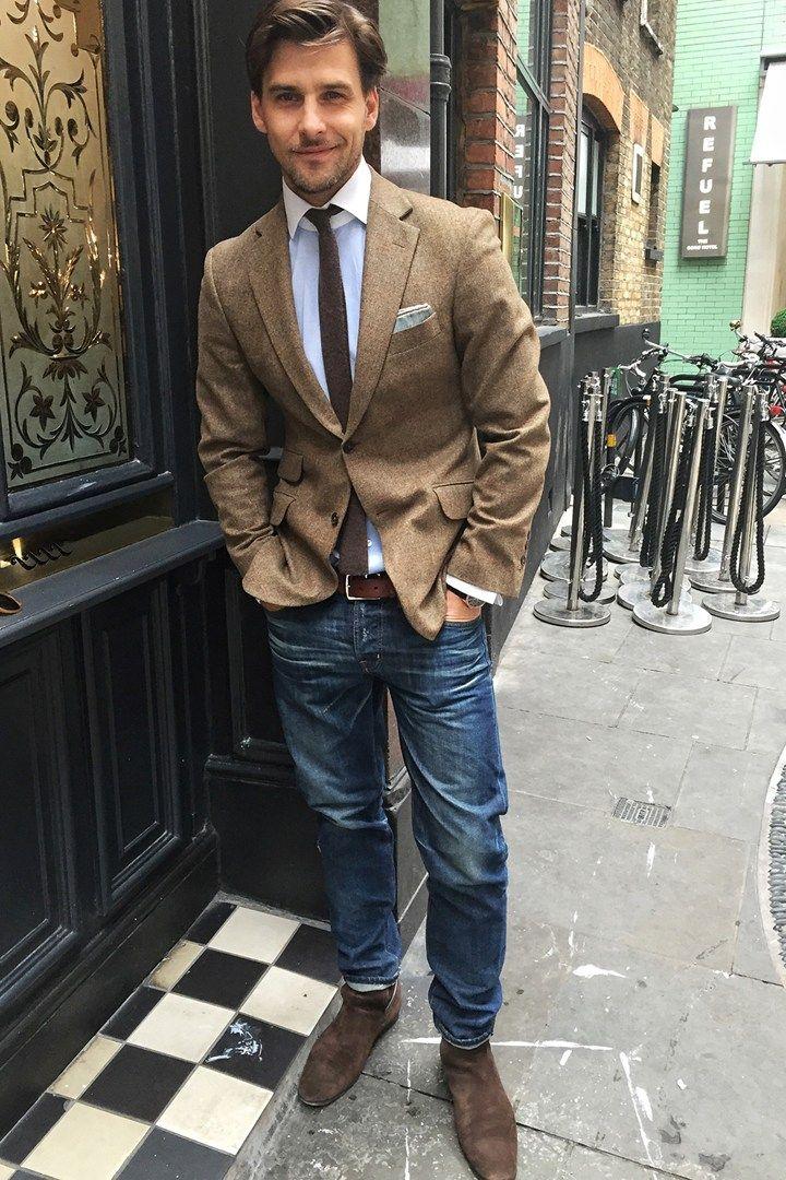 What model Johannes Huebl is wearing for LCM SS '16 - GQ.co.uk