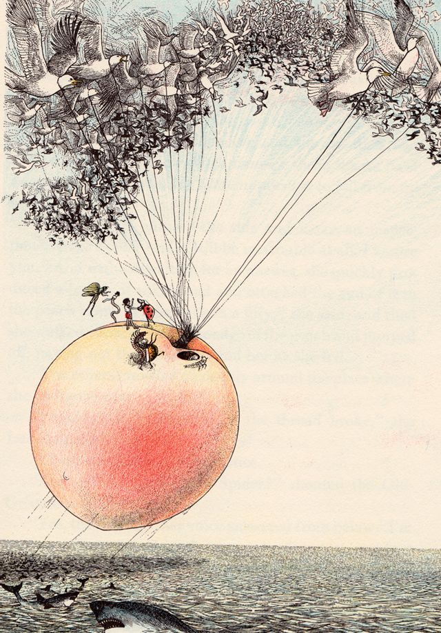 James and the Giant Peach - illustrated by Nancy Ekholm Burkert