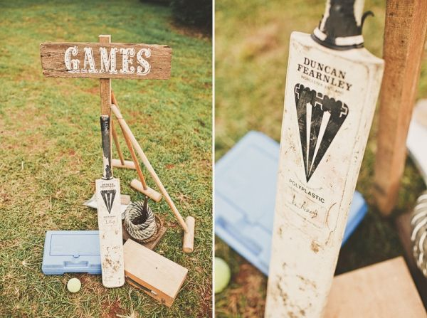 really want lawn games at the reception!!  i want to do way too much!  Cricket