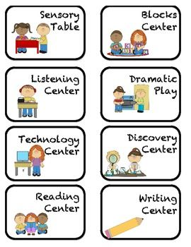 Creative Curriculum Center Labels.Rotation Cards
