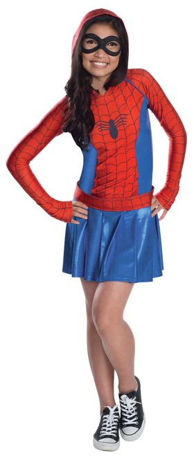Kids Marvel Spider-Girl Hoodie Costume - Take a page out of the comic ...