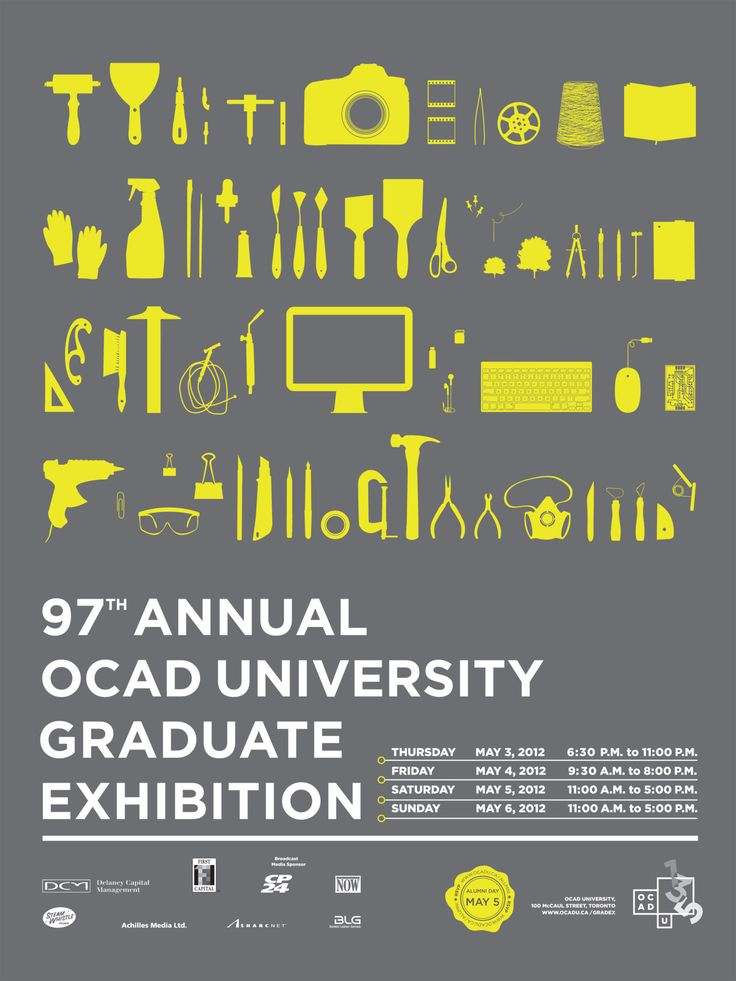 OCAD U's 2012 Graduate Exhibition Poster (join us May 3 to 6 to see the work of 550+ graduating art and design students!)