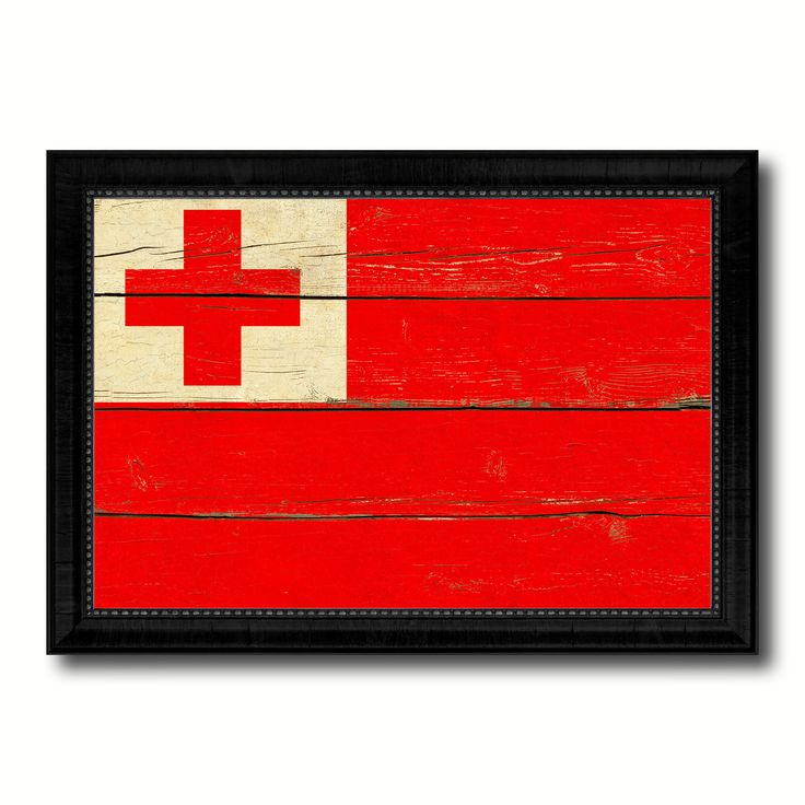 Tonga Country Flag Vintage Canvas Print with Black Picture Frame Home Decor Gifts Wall Art Decoration Artwork