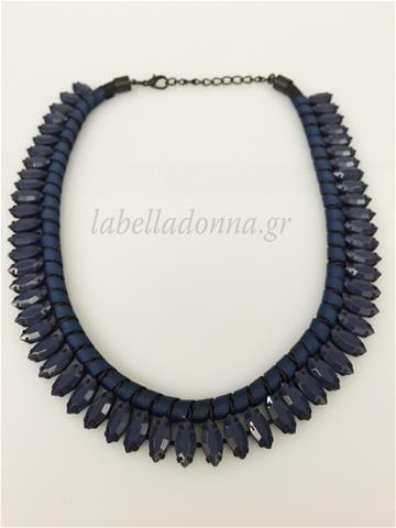 Labelladonna.gr - Statement Necklace Dark Blue